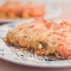 Pastagratäng med tomat