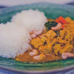 Currygryta med cashewnötter
